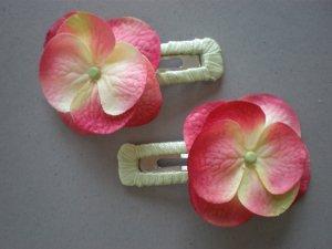 Angela's Accessories Pink&Green Hawaiian Clips