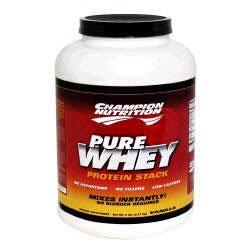 Champion Nutrition Pure Whey Protein Stack - Vanilla - 5lbs.