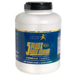 HDT 5 Plus 1 Whey Protein - Vanilla Cream - 6lbs.