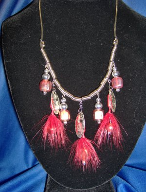 Flaming Red Allure Necklace
