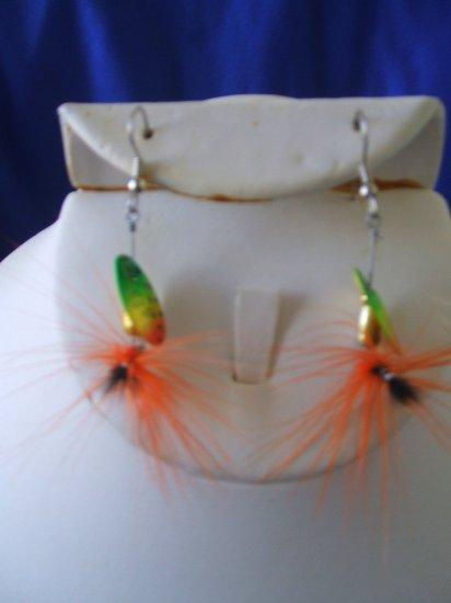 Orange Fly Allure Earrings