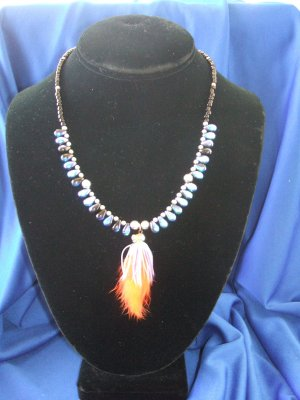 Reversible Marabou Allure Necklace