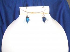 Blue Spin & Glo Earrings