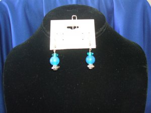 Turquiose Glass Earrings