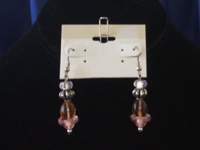 Pleasant Peach Drop Earrings