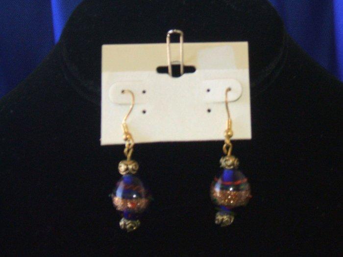 Royal Blue Galaxy Earrings