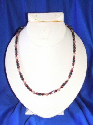 Wine & Crystal Magnetic Necklace