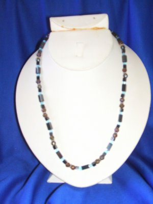 Brown/Blue Magnetic Necklace