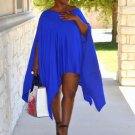 Women Loose Batwing Mini Dress Long Top Plus Size Cape Tunic Poncho Fashion NEW