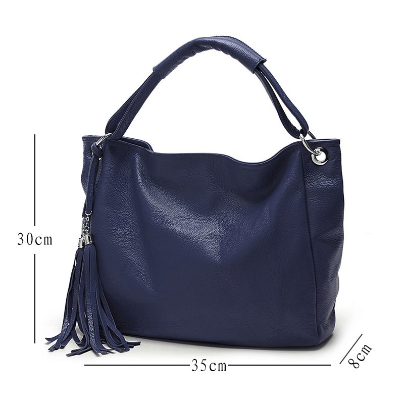 Classic Tassel Leather Women Handbag Ladies Shoulder Bag Purse Satchel Fashion