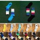 New Casual Cotton Socks Design Multi-Color Fashion Dress Men's Women's Socks US