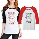 Fashion Women Christmas Long Sleeve Shirt Casual Blouse Loose Cotton TShirt 2017