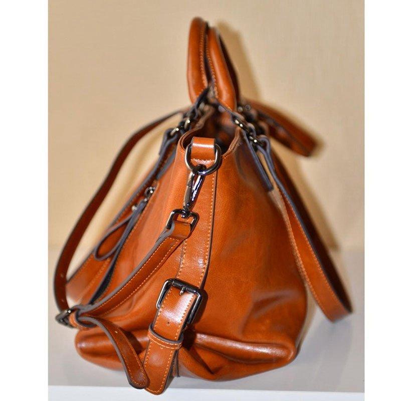 New Women Handbag Shoulder Bag Oil Leather Messenger Hobo Bag Satchel Tote Purse