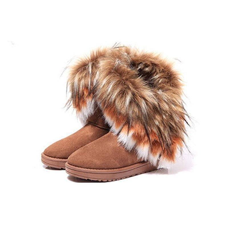 Large Size Fashion Womens Shoes Winter Warm Anti-skidding Furry Ankle Snow boots