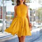 Women Summer Casual Sleeveless Evening Party Beach Dress Short Dress Trendy 2016