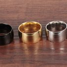 11MM Stainless Steel Ring Band Titanium Silver Black Gold Men SZ 7 to 13 Wedding