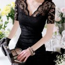Cheap Woman Ladies Clothing Dinner Short Rubbery Blouse Dress Skirt Size New US