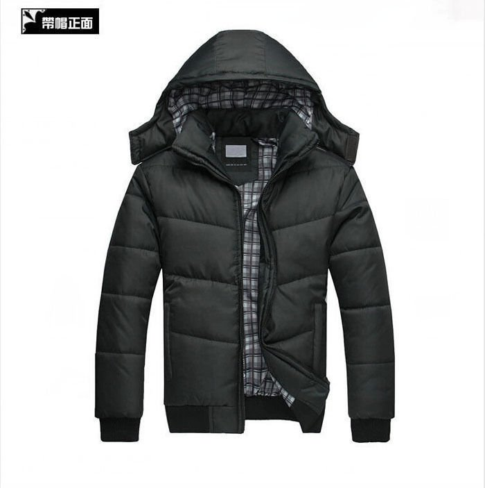 Men's Winter Cotton-Padded Jacket Hooded Thicken Warm Coat Outdoors Parka New F5