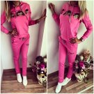 Women 2Pcs Casual Sports Cartoon Monkey Long Sleeve SweatSuits Tracksuits Latest