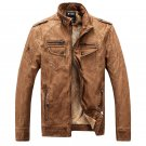New Winter Men's Jacket washed leather collar cashmere coats Overcoat Clothing