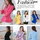 Cool Women Fashion Casual Business Blazer One Button Slim Suit Jacket Coat