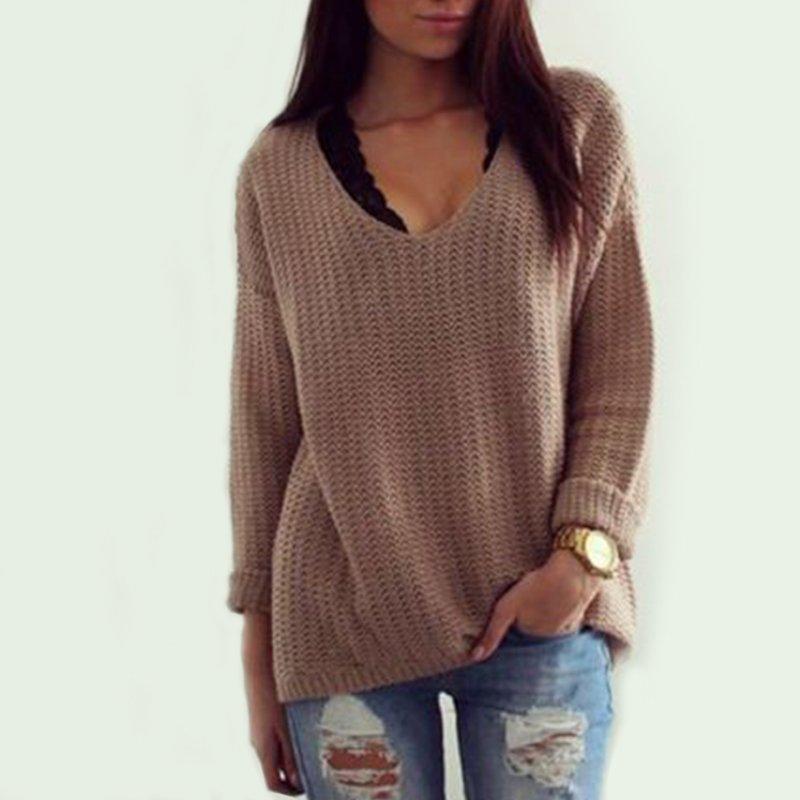 Women Long Sleeve Knitwear Jumper Cardigan Coat Jacket New Casual Sweater Cheap