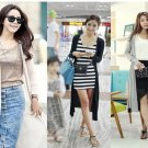 Women Sleeve Knitted Cardigan Long Coat Jacket Outwear Casual Loose Hot Sweet