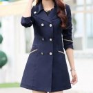Newest Cool Women Ladies Fashion Double Breasted Winter Long Trench Coat Outwear