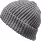 THICK Ribbed Beanie Knit Ski Cap Skull Hat Solid Color Winter Cuff Blank Simple