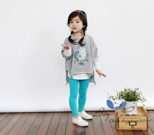 2016 Kids Toddlers Clothes Girls Sweater Pullover Tops T-shirt Sz3-8Y Fashion
