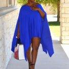 Women Loose Batwing Mini Dress Long Top Plus Size Cape Tunic Poncho Fashion Cosy