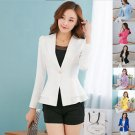 Women Fashion Casual Business Blazer One Button Slim Suit Jacket Coat Hot Sale