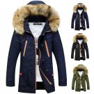 NEW Winter Mens Military Trench Coat Jacket Hooded Parka Thick Cotton Outwear