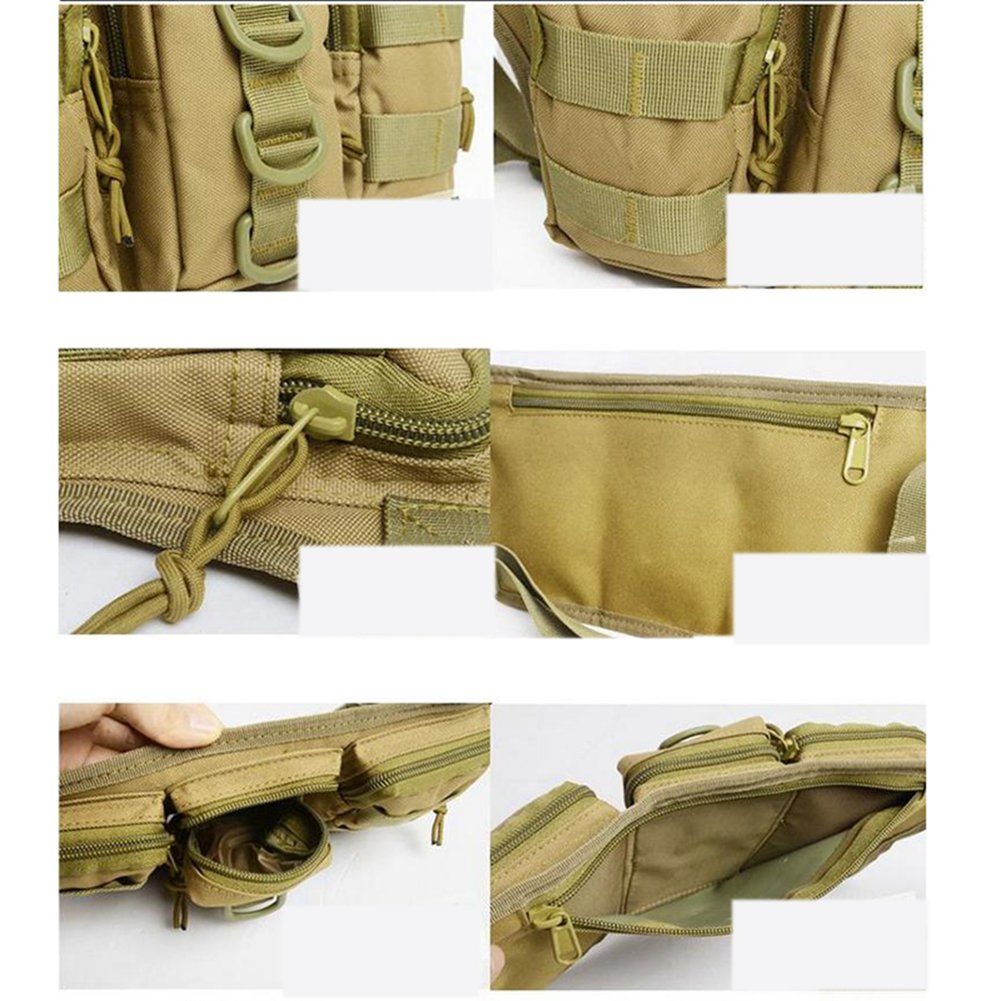Tactical Outdoor Men's Triple Waist Compartment Bag Belly Bag Fanny Pack 2016