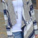 2016 hot Women's Cardigan Long Sleeve Knitted Sweater Outwear Loose Jacket Coat