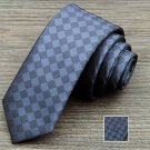 Necktie Jacquard Woven Narrow Skinny Silk Tie Slim Party Men's Classic Fashion