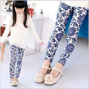Design Kids Toddler Girls Leggings Pants Floral Printed Trousers Size 3-7Y Cute