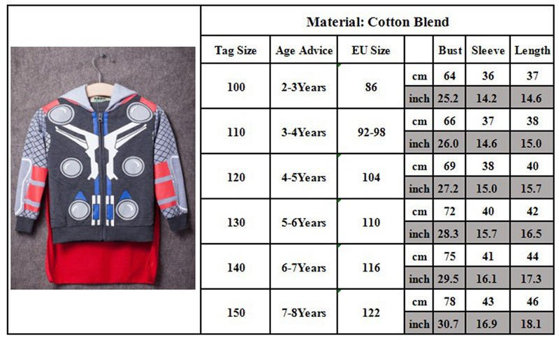COOL Toddler Boys' Clothing Superhero Hoodie Hooded Jacket Jumper Sweatshirt