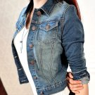 Women/Lady Long Sleeve Blouse Slim Denim Short Jean Wrap Jacket Outerwear Cheap