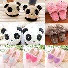 Winter Women Men Fleece Warm Panda Animal Soft Velvet Indoor Home Slippers Shoes