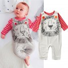 2Pcs Baby T-Shirt Romper Playsuit Baby grow Clothes Outfit Hairy Hot New Cool