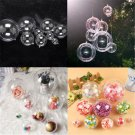 10x Baubles Transparent Fillable Christmas Tree Ball Decoration Ornaments Bauble