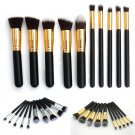 10 Pcs Professional Foundation Makeup Brush Set Eyeshadow Cosmetic Brush Simple