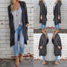 Women Long Sleeve Knitted Cardigan Loose Sweater Outwear Jacket Coat Sweater US