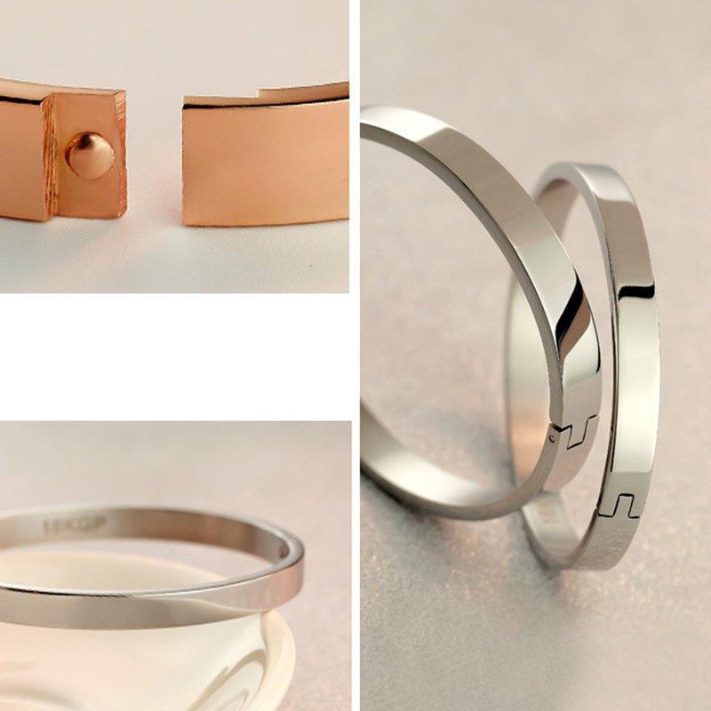 Stylish Charm Women�s Bracelet Bangle Plated Cuff Stainless Steel Rose Jewelry