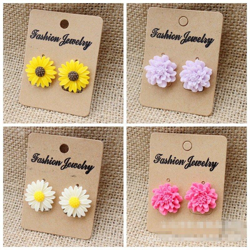 Details New Chic Fashion Beauty Women's Flower Type Ear Stud Earrings Drop Cute