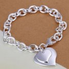 HOT Heart Sign Fashion Silver Plated Jewelry Women Chain Bracelet