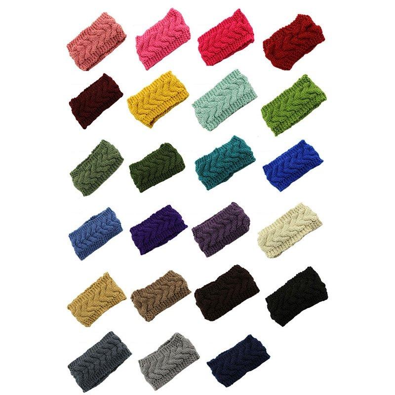 Women Turban Crochet Twist Knitted Headwrap Headband Winter Warmer Hair Band New