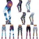 Women YOGA Workout Gym Print Sports Pants Leggings Fitness Stretch Trousers US