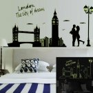 Bedroom Wall Sticker London Fluorescent Decal Luminous Tower allpaper Beauty new